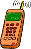Analog Mobile Phone Clip Art