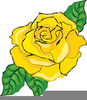 Myspace Yellow Rose Clipart Image