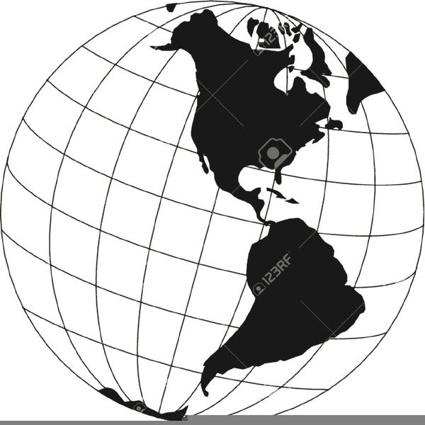 5e0628bbc7 World Globe Clipart Black And White image