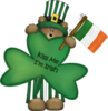 Toys D Teddy Bear Irish Green Image