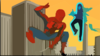 Spidey Vs Electro Clip Art