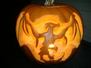 Dragon Pumpkin Carving Image