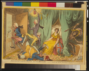 Britannia Between Death And The Doctor S  / Js Gillray Inv. & Fect. Image