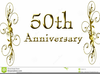 Free Clipart Golden Wedding Anniversary Image