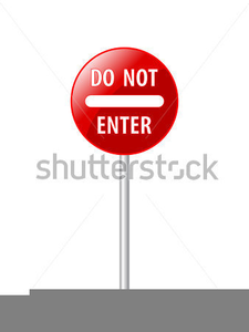 Enter At Your Own Risk Clipart Image