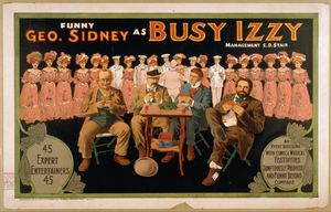 Funny Geo. Sidney As Busy Izzy Image