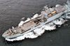 The Royal Fleet Auxiliary, Landing Ship Logistic Rfa Sir Galahad (l 3005) Underway In The Arabian Gulf Image