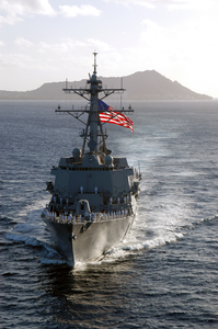 The Newly Commissioned Guided Missile Destroyer Uss Chafee (ddg 90) Sails Into Her New Homeport Of Pearl Harbor, Hawaii. Image