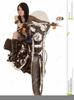 Free Woman On Motorcycle Clipart Image