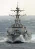 Uss Buckeley (ddg 84) Begins Its Approach To Uss George Washington (cvn 73) Image