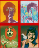 Beatles Trippy Poster Image