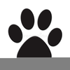 Free Clipart Dog Paw Print Image