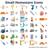 Small Homeware Icons Image