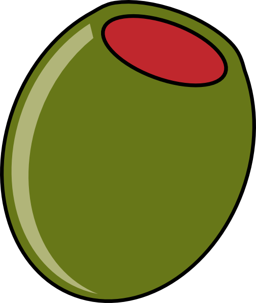 Olive At 20 Deg. Angle Clip Art at Clker.com - vector clip art ...