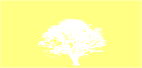 Tree, White, Silhouette, Yellow Background Clip Art at ...