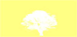 Tree, White, Silhouette, Yellow Background Clip Art