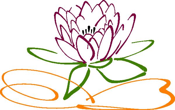 Lotus Flower Clip Art At Clker Com Vector Clip Art Online Royalty Free Amp Public Domain