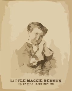 Little Maggie Benson The Original  Baby Benson.  Clip Art