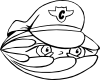 Clam Security Guard 2 Clip Art