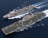Unrep - Uss Wasp And Usns Supply Image