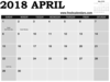 April Calendar Saturday And Sunday Highlight With May Image