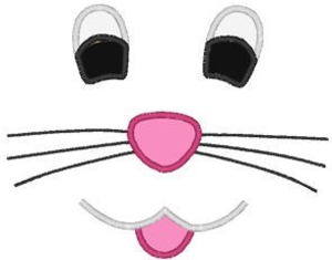 Easter Bunny Face Smile Embroidery Machine Applique Design D Bd A Image
