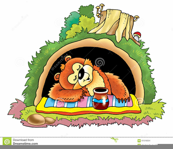 Bear In Cave Clipart Free Images At Clker Com Vector Clip Art