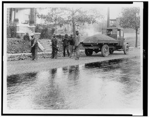 [african American Men Paving Road, Washington, D.c.(?)] Image