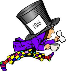 Mad Hatter Wild Colors Clip Art