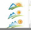 Mountain Path Clipart Image