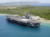 The Aircraft Carrier Uss Carl Vinson (cvn 70) Pier Side In Apra Harbor, Guam Image