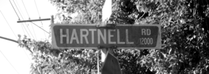 Hartnell Road Richmond Grayscale Cropped To Just Sign Image