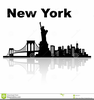 New York Skyline Clipart Black And White Image