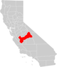California County Map Fresno County Highlighted Clip Art