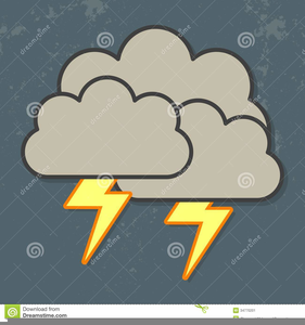 Lightning Storm Clipart Image