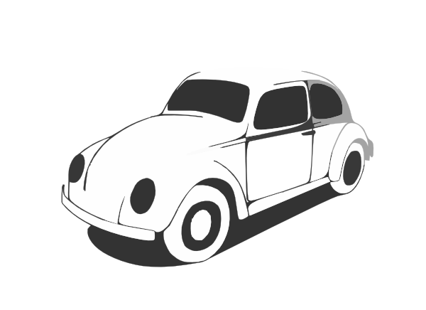 Vw Beetle Classic Black White Line Art Coloring Sheet Colouring Page Px Clip At Clker