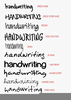 Handwriting Fonts Image