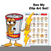 Clipart Of A Battery Image