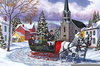 Winter Sleigh Ride Clipart Image