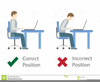 Bad Posture Clipart Image