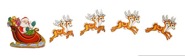 Santa and reindeer clipart. Free download transparent .PNG   Creazilla