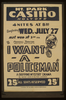 Federal Theatre Project Presents  I Want A Policeman  A Gripping Mystery Drama By Rufus King & Milton Lazarus. Image