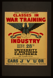 Federal Government Sponsored Classes In War Training For Industry Image