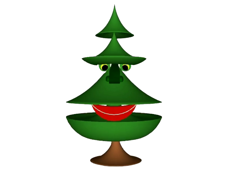 Happy Christmas Tree | Free Images at Clker.com - vector ...