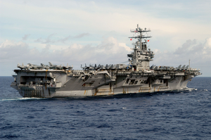 The Nuclear-powered Aircraft Carrier Uss Carl Vinson (cvn 70) Sails In The South China Sea Completing Seven Months Of A Scheduled Deployment Image