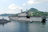 Uss Belleau Wood (lha 3) Departs Sasabo, Japan. Image