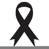 Cancer Ribbon Black And White Clipart Image