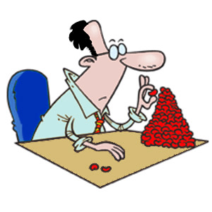 Bean Counter Clipart Image