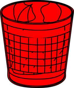Red Trash Bin Clip Art at Clker.com - vector clip art online ...