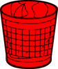 Red Trash Bin Clip Art